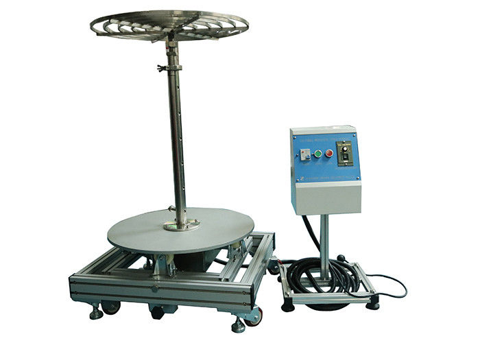 Tiltable Rotating 600mm Stage Ingress Protection Test Equipment With Independent Control Box 150KG Adjustable Height
